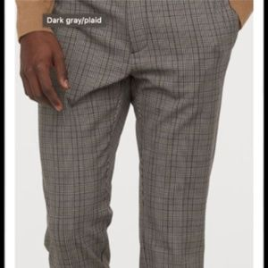 H&M Skinny Houndstooth Plaid Suit Pants Men's 36R